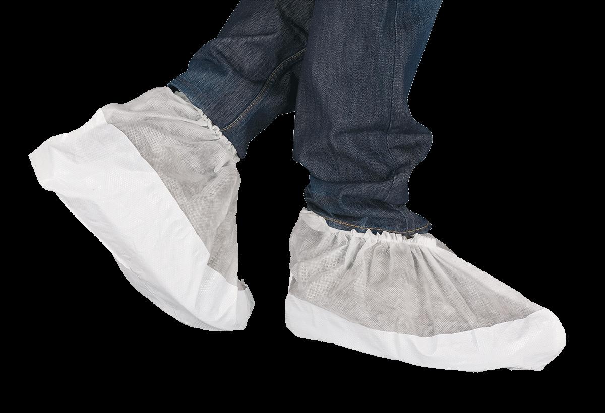 PP-Überschuh, extra groß, hohe Ausführung, rutschfeste Laufsohle, weiß