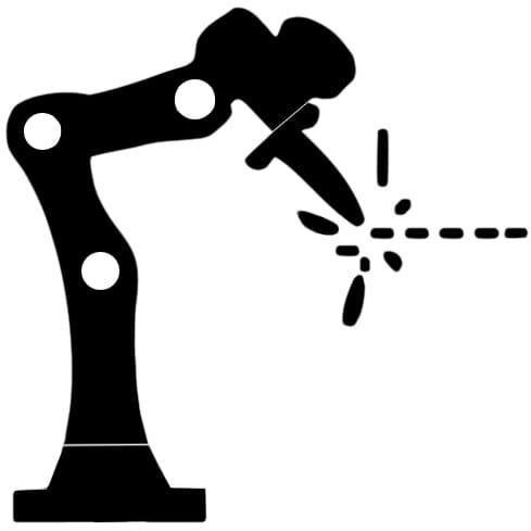 Roboterarm mit Roboterlötkopf