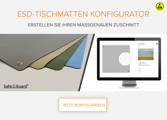 Safeguard ESD-Tischmatten Konfigurator